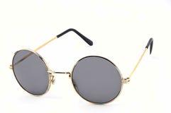 Circle lens sunglasses. On  white gackground Royalty Free Stock Photography