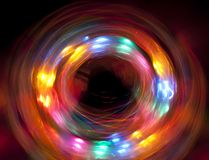 Circle of light. Fast moving circle of light Royalty Free Stock Photography
