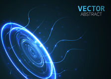Circle light effect with blue lines. Abstract background. Vector graphic design. Royalty Free Stock Images