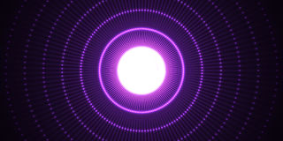 Circle light effect with blue lines. Abstract background. Vector graphic design. Royalty Free Stock Photos