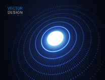 Circle light effect with blue lines. Abstract background. Vector graphic design. Circle light effect with blue lines. Abstract background. Vector graphic design Royalty Free Stock Images