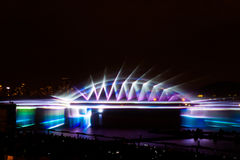 The Circle of Light Moscow international festival 2016. MOSCOW, RUSSIA - SEPTEMBER 25, 2016: The Circle of Light Moscow international festival 2016. Music, fire Royalty Free Stock Photography