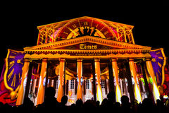 The Circle of Light Moscow international festival 2016. MOSCOW, RUSSIA - SEPTEMBER 24, 2016: The Circle of Light Moscow international festival. State Academic Royalty Free Stock Photos