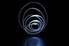 Circle light painting Royalty Free Stock Image