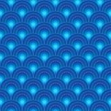Circle Light Seamless Pattern_eps. Illustration of symmetry half circle blue bright seamless pattern. --- This .eps file info Version: Illustrator 8 EPS Document vector illustration