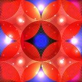 Circle light symmetry seamless pattern Royalty Free Stock Photo