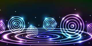 Circle light wave banner Royalty Free Stock Photo