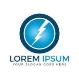 Circle Lightning bolt vector logo design. royalty free illustration