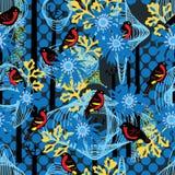 Circle line ceramic seamless pattern Royalty Free Stock Image