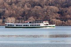 Circle Line Cruise Boat on Hudson River stock image
