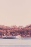 Circle Line Cruise Boat on Hudson River royalty free stock image