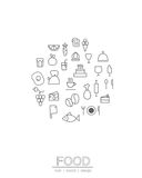 The circle line food icon Royalty Free Stock Photography