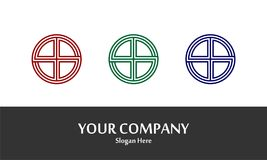 Circle Line Logo Vector. Logo with hiden letter `S` inside the circle Stock Photography