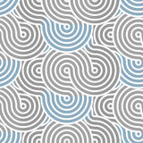 Circle line pattern. Including seamless sample in swatch panel Royalty Free Stock Photography