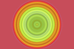 Circle, lines in green, yellow Stock Photography