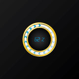 Circle loader design. With gold trimming and black background royalty free illustration
