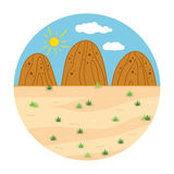 Circle locations, little landscape (sunny safari day). Nature Royalty Free Stock Photo