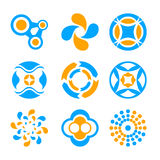 Circle logo elements Stock Images