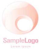Circle logo for femininity and pregnancy Royalty Free Stock Photos
