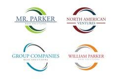 Circle logo set stock illustration