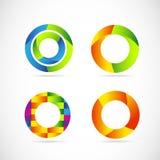 Circle logo set Stock Images
