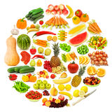 Circle with lots of food. Items Stock Photo