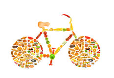 Circle with lots of foods Royalty Free Stock Images