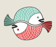 Circle love fishes Royalty Free Stock Photo