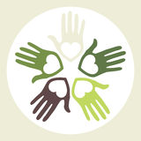 Circle of loving hands. royalty free illustration
