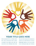 Circle of loving hands design. Royalty Free Stock Photos