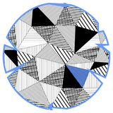 Circle in low poly style. With blue Royalty Free Stock Images