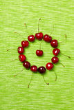 Circle made of cherries Royalty Free Stock Image