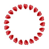 Circle made of 3d red hearts Stock Image