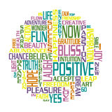 Positive Words Happiness Circle Royalty Free Stock Photos