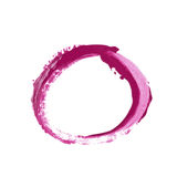 Circle made with a paint stroke isolated. Round circle frame as a design element, made with a paint stroke, composition isolated over the white background Stock Photos
