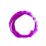 Circle made with a paint stroke isolated. Round circle frame as a design element, made with a paint stroke, composition isolated over the white background Royalty Free Stock Photos