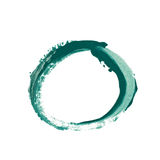 Circle made with a paint stroke isolated. Round circle frame as a design element, made with a paint stroke, composition isolated over the white background Royalty Free Stock Image