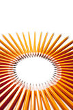 Circle made of pencils Stock Images