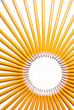 Circle made of pencils Royalty Free Stock Photos