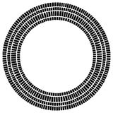 Circle made of rectangles. Irregular circular element. Abstract Royalty Free Stock Image
