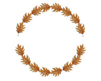 Circle made of several brown leaves, great for text. Close Royalty Free Stock Image