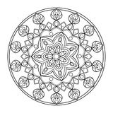 Circle mandala coloring book for adults vector Stock Image