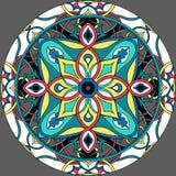 Circle mandala, gray backround. Vector illustration. Meditation poster. vector illustration