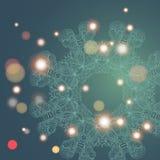 Circle mandala lace hand-drawn kaleidoscope ornament vector card Royalty Free Stock Photos