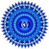Circle mandala pattern. Ajna chakra. Stock Photo