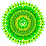 Circle mandala pattern. Anahata chakra. Royalty Free Stock Photo