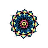Circle mandala pattern. Decorative round ornament. Yoga logo, background for meditation poster. Stock Images