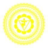 Circle mandala pattern. Manipura chakra. Circle mandala pattern. Manipura chakra vector illustration Stock Images