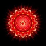 Circle mandala pattern. Muladhara chakra. Circle mandala pattern. Muladhara chakra vector illustration Stock Photo