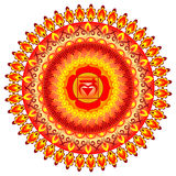 Circle mandala pattern. Muladhara chakra. Royalty Free Stock Photo